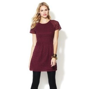 Free People • Candy Woven Henna Lace Red Dress 6